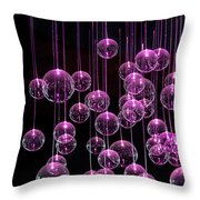 Neon  Nights Throw Pillow