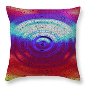 Neon Water Puddle Throw Pillow