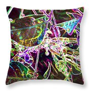 Neon Pearls Throw Pillow