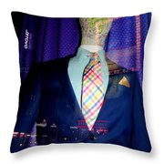 Neon Reflections Throw Pillow