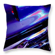 Neon Reflections - Ford V8 Pickup Truck -1044c Throw Pillow