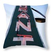 Neon Restaurant Sign Throw Pillow