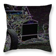 Neon Roadster Throw Pillow