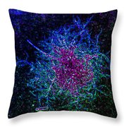 Neon Sea Weed Throw Pillow