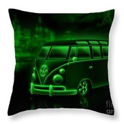 Neon Splitty Throw Pillow