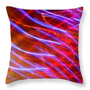 Neon Swell Throw Pillow