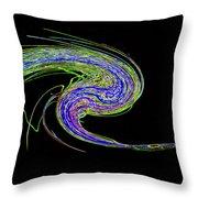 Neon Twirl Throw Pillow