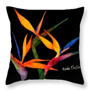 Neons Of Paradise Throw Pillow