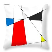 neoplasticism 10 III Throw Pillow