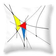 neoplasticism 11 II Throw Pillow