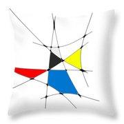 neoplasticism 11 IV Throw Pillow