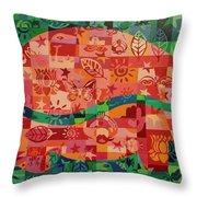 Nepalese Elephant Throw Pillow