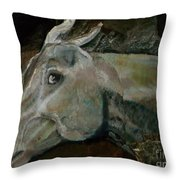 Nephrite's Horses On Stairs Throw Pillow