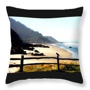 Neptune Beach Crow Throw Pillow