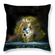 Neptune Rising Throw Pillow