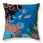 Neptune Spot And Fifi Throw Pillow by Anthony Morris