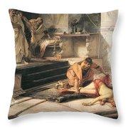 Nero And Agrippina Throw Pillow