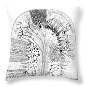 Nerve Cells, 1894 Throw Pillow by Granger