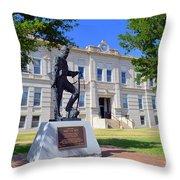 Ness County Courthouse In Kansas Throw Pillow