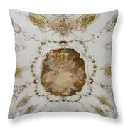 Nesselwang Church Ceiling And Organ Throw Pillow