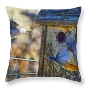 Nest Building Time Throw Pillow