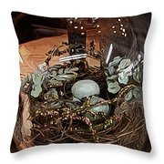 Nest In Cloche Throw Pillow