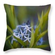 Nest Of Blue Stars Throw Pillow