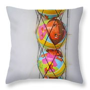 Net Balls Throw Pillow
