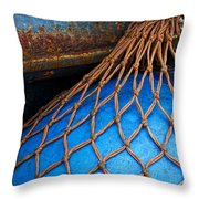 Nets And Knots Number One Throw Pillow by Elena Nosyreva