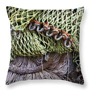 Nets And Knots Number Three Throw Pillow by Elena Nosyreva