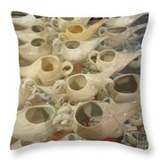 Nettie Pots Throw Pillow