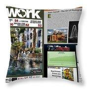 Network Magazine Feature Throw Pillow