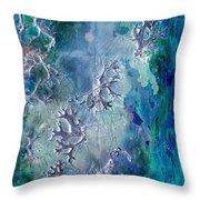 Neuronal Lunar Essence Throw Pillow