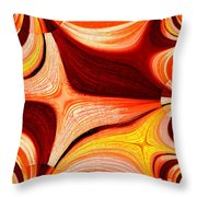 Neutral Swirls Fractured Throw Pillow