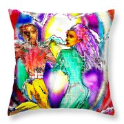 Neutron Dance Throw Pillow