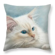 Neva Masquerade Cat Throw Pillow