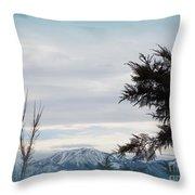 Nevada Blue Throw Pillow