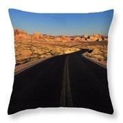Nevada. Desert Road Throw Pillow