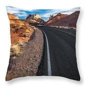 Nevada Highways Throw Pillow