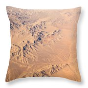 Nevada Mountains Aerial View Throw Pillow