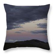 Nevada Skies Over Red Mountain Throw Pillow