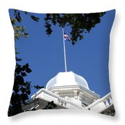 Nevada State Capitol Throw Pillow