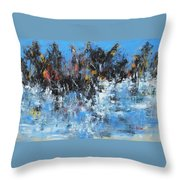 Neve In Riva A Lago Throw Pillow