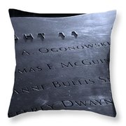Never Forget Throw Pillow by Dan Sproul