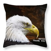 Never Forget - Memorial Day Throw Pillow