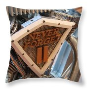 Never Forget Motorcycle Throw Pillow