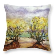 Never Land Throw Pillow