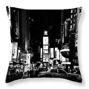 Never Sleeping In Black Throw Pillow