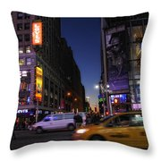 Never Sleeps Throw Pillow