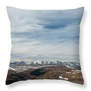 Never Summer Mountains From Rock Cut In Moraine Park Rocky Mountain National Park Throw Pillow
